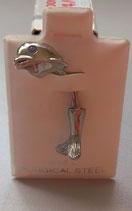 Bauchnabel -Piercing - Delphin