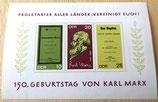 Briefmarke - 150. Geburtstag von Karl Marx - DDR 1968