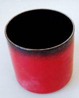 Kleiner Becher aus Metall - Rot-Schwarz