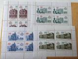4 kleine Briefmarkenbögen - 750 Jahre Berlin 1987 - DDR