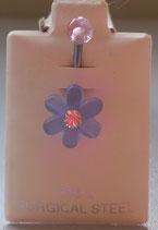 Bauchnabel - Piercing - Blume