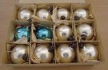 12tlg. Baumkugel-Set in Silber und Blau - DDR
