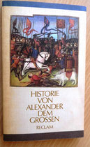 Historie von Alexander dem Großen - Reclam - Verlag Philipp Reclam jun. Leipzig