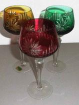 Römerkelch aus Kristallglas - verschiedene Farben - Made in GDR
