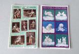 Postkarten mit Aufkleber
