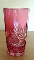 Kristallglas – Kristallvase – rot-rosa mit Schliff