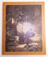"""Kunstdruck auf Holzrahmen - Carl Spitzweg (1808-1885) """"Der Blumenfreund"""""""