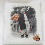 Fotoalbum - Buchalbum - Junge mit Blumen