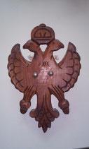 Doppelkopf Adler - Wandapplike - Holz
