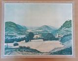 Landschaftsbild - Kunstdruck mit Leinenrahmen