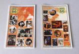 Postkarte mit Aufkleber - Route 66