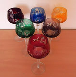 Weinrömer - Kristallglas - versch. Farben - Römerkelch