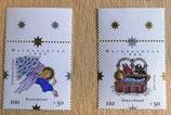 Briefmarken - 2 Stück - Weihnachten 1999