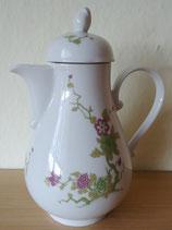 Schöne Kaffeekanne mit Blumenranke - Kahla Porzellan