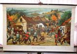 """Lehrtafel """"Plünderung eines Dorfes im Dreißigjährigen Krieg"""""""