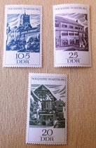 3 Briefmarken - 900 Jahre Wartburg - DDR