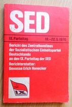 SED IX. Parteitag 18.-22.05.1976