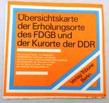 Übersichtskarte der Erholungsorte des FDGB und der Kurorte der DDR - 1977