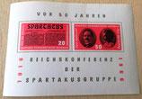 Briefmarke - 50 Jahre Reichskonferenz der Spartakusgruppe - DDR 1966