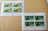 2 kleine Briefmarkenbögen - Wels und Bachforelle - DDR 1987