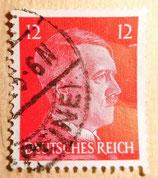 Briefmarke - Deutsches Reich - Teilgestempelt