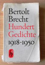Bertolt Brecht - Hundert Gedichte 1918-1950 - Aufbau-Verlag Berlin