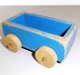 Alter Holzwagen/-anhänger in Blau