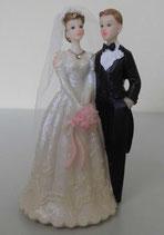 Brautpaar mit kleinem Glitzerstein