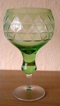 Weinglas - Weinrömer - Grün mit Schliff