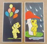 Wandbilder für das Kinderzimmer - 2er Set - Bären