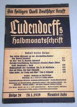 Ludendorffs Halbmonatschrift Folge 20 1938/39