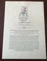 """Erstausgabe der """"Alexander von Humboldt""""-Gedenkmarke 1959 - Nr. 43"""