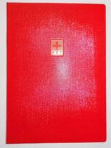 Rote Einsteckmappe für Briefmarken mit PTT (Post) Logo