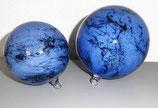 2er Set Dekokugeln - blau marmoriert
