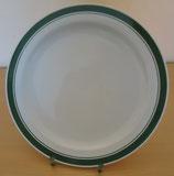 Speiseteller - flacher Teller mit grünem Rand - CP