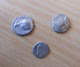 3 Zinnmünzen