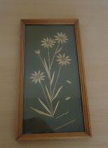 Bilderrahmen aus Holz mit Blumenbild