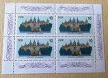 Briefmarkenbogen - Schloss Schwerin 1986 - DDR