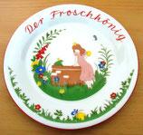 Kleiner Kinderteller aus Porzellan - Der Froschkönig - Freiberger Porzellan