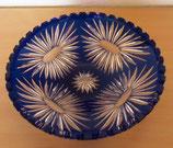 Große Kristallschale in Blau mit gezacktem Rand (#4)