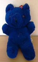 Plüschtier Bär - blau - 25 cm - DDR