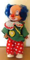 Clownspuppe mit blauen Haaren - ARI DDR