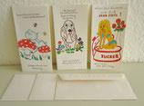3er Set Geburtstagskarten - gemalt - DDR