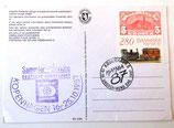 Postkarte mit dänischer Briefmarke - Hafnia 1987