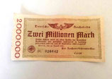 Zwei Millionen Mark - Reichsbanknote