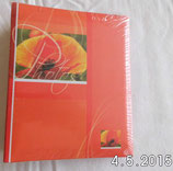Kleines Flip-Album - orange - Walther