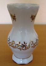 Kleine Vase mit Goldrand und -dekor - Weimar Porzellan