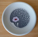 Kuchenteller - floralem Design - Grau - Colditz Porzellan