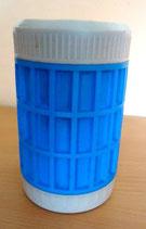 Kleiner Eisbehälter/Thermobehälter in Blau/Grau – DDR
