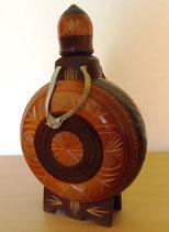 Dekoratives Holzgefäß mit Glaseinsatz – UdSSR